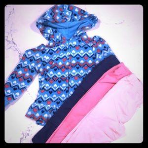 Other - 18 month legging bundle and fleece hood jacket